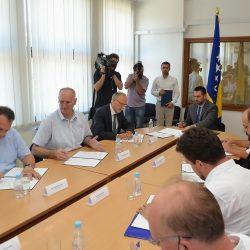 Sarajevo: Načelnik Omerašević na potpisivanju ugovora o sufinansiranju projekta putne infrastrukture