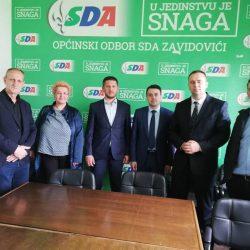 U posjeti OO SDA Zavidovići boravili  premijer ZDK i ministar za boračka pitanja