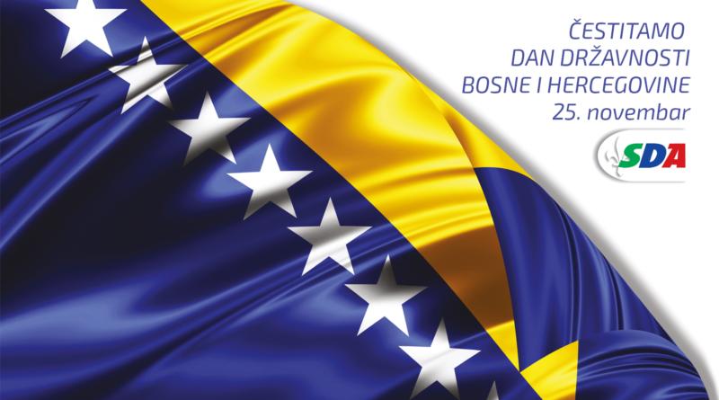 Čestitka OO SDA Zavidovići povodom Dana državnosti BiH